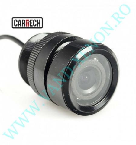 Senzori de parcare cu afisaj in oglinda si camera Cartech SM2831