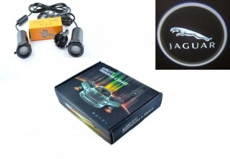 Set proiectoare / Logo montare sub usa 5w Jaguar