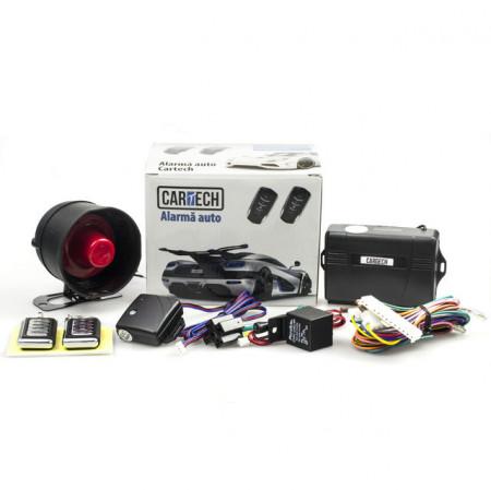 Alarma auto Cartech 2 telecomenzi, modul inchidere centralizata , sirena