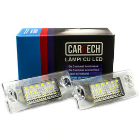 Lampi numar dedicate cu led Audi A4