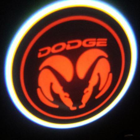 Set proiectoare / Logo montare sub usa 5w Dodge