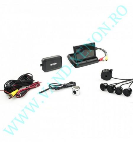 Senzori de parcare cu afisaj si camera Cartech SR606