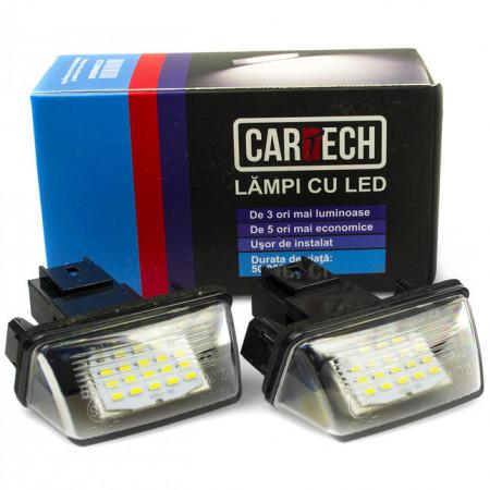 Lampi numar dedicate cu led Peugeot / Citroen