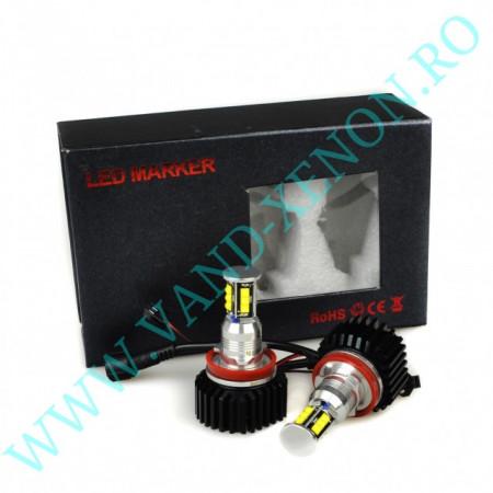 LED Marker BMW E92 cu 12 SMD CREE 96W - Angel eyes