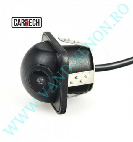 Senzori de parcare cu afisaj in oglinda si camera Cartech SM801