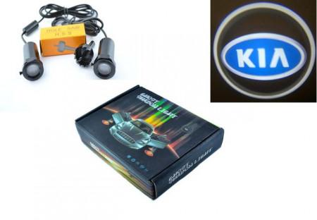 Set proiectoare / Logo montare sub usa 5w Kia