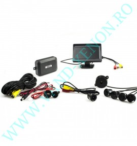Senzori de parcare cu afisaj si camera Cartech SP1830