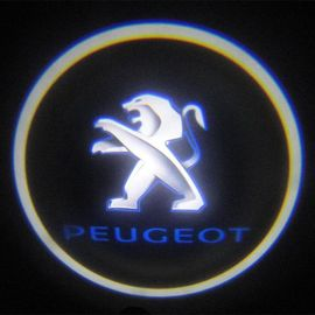 Set proiectoare / Logo montare sub usa 5w Peugeot