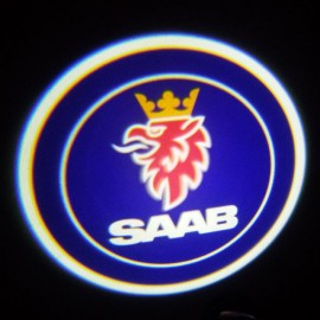 Set proiectoare / Logo montare sub usa 5w Saab