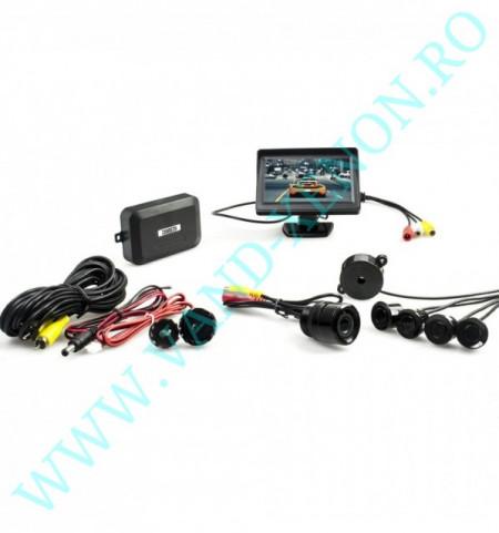 Senzori de parcare cu afisaj si camera Cartech SP2831