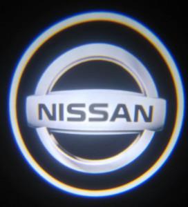 Set proiectoare / Logo montare sub usa 5w Nissan