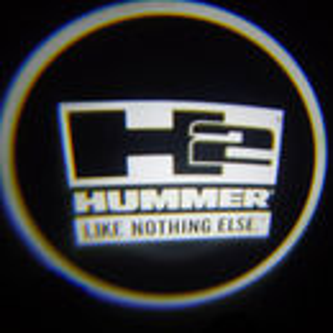 Set proiectoare / Logo montare sub usa 5w Hummer