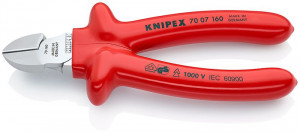 Cleste sfic, cromat, izolata prin imersie la 1000 V, KNIPEX, 160 mm