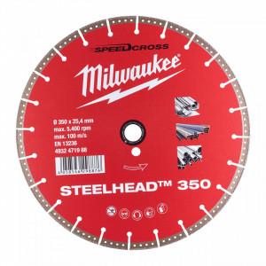 Disc Premium STEELHEAD™ - 350 mm Milwaukee, pentru beton armat si otel