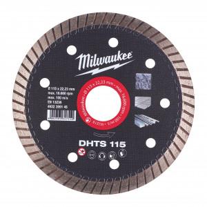 Discuri diamantate DHTS Milwaukee, viteza TURBO in placi ceramice, granit, marmura