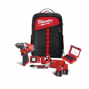 Kit-ul Instalatorului Milwaukee M12 FPD-202XH, alimentare Cu acumulator - echipat