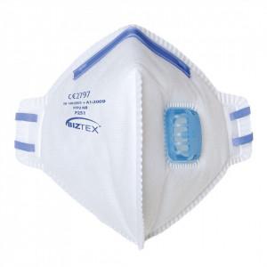Masca de Protectie Respirator FFP2 Valved Dust Mist Fold Flat, pachet 20 buc, culoare Alb