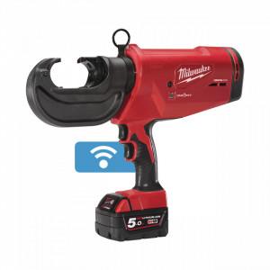 Presă hidraulică pentru cabluri 16-400 mm² Milwaukee FORCE LOGIC™ M18 HCCT 109/42-522C, livrata cu acumulatori, valiza, bacuri neincluse