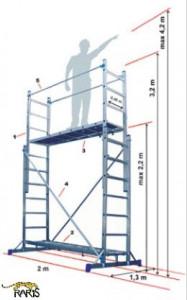 Scara-schela aluminiu multifunctionala tip SS3x7