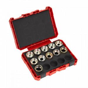 Set bacuri de sertizare Milwaukee DIN13 Cupru 16-300 mm, pentru cabluri armate, pachet 11 buc