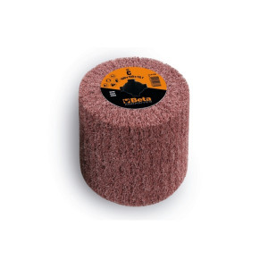 Tambur lamelar, cilindric, din fibra sintetica din corindon, pentru masina de satinat, Ø100x100mm 11415B