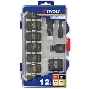 Trusa capete chei tubulare de impact 1/2 - 12 piese 8-24 mm