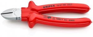 Cleste sfic, cromat, izolata prin imersie la 1000 V, KNIPEX, 180 mm