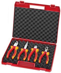 Geantă compactă cu scule Knipex pentru electricieni, 4 piese