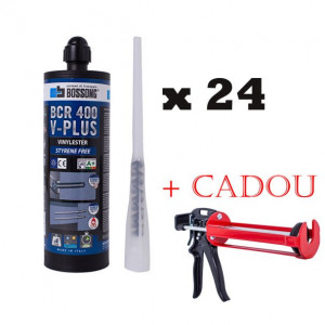 Kit 24 ancore chimice V-Plus, 400 ml + cap mixare + pistol injectie