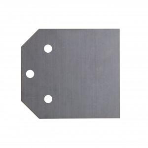 Lamă de schimb pentru răzuitor, cu o grosime de 1 mm cu 3 șuruburi / piulițe, 100 mm