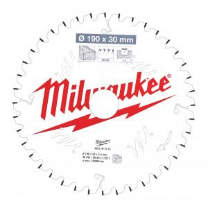 Pânze pentru fierăstrău tăieri înclinate Milwaukee