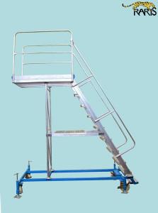 Platforma la 60 0 , mobila, baza otel, structura aluminiu, in consola, cu baza extinsa, tip PBS