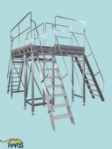 Platforme fixe din otel inoxidabil tip PFOI