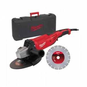 Polizor unghiular 180 mm/230 mm 2200 W Milwaukee AG 22-230 E D-SET, alimentare Retea 220-240 V