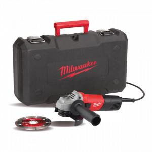 Polizor unghiular 800 W Milwaukee AG 800-115 E D-SET, alimentare Retea 220-240 V