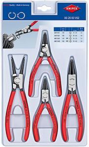 Set Cleşti Knipex pentru inele siguranţă în cutie din plastic, 4 piese
