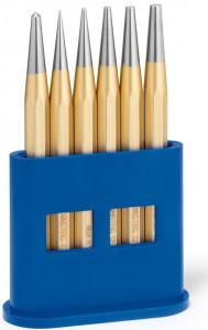Set standard de perforatoare Rennsteig în stand de plastic, 6 piese