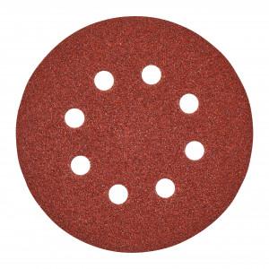 Disc abraziv pentru șlefuitoare orbitale Ø 125 mm - 8 găuri Milwaukee