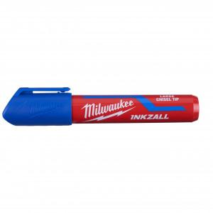 Marker INKZALL™ albastru cu vârf lat - mărimea L