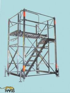 Platforma , mobila, compacta, inaltimea reglabila, din aluminiu, tip PMCIR