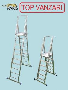 Scara platforma aluminiu inaltimea reglabila tip SMIR