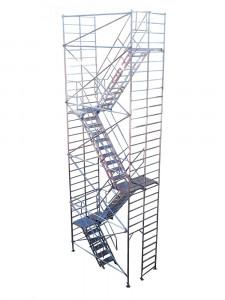 Schela aluminiu pentru acces-evacuare-incendiu tip S3-S4