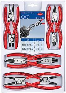 Set Cleşti Knipex pentru inele siguranţă în cutie din plastic, 8 piese
