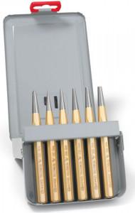 Set standard de perforatoare Rennsteig în cutie metalică, 6 piese