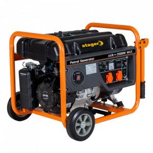 Stager GG 6300W generator open-frame 5kW, monofazat, benzina, pornire la sfoara