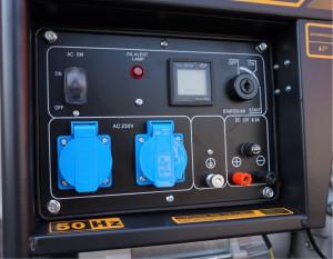 Stager YDE6500E Generator open frame 4.5kW, monofazat, diesel, pornire la cheie