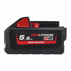 Acumulator Li-Ion Milwaukee 5,5 AH M18™ HIGH OUTPUT™