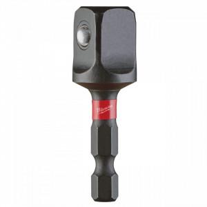 "Adaptor pentru chei tubulare SHOCKWAVE™ IMPACT DUTY Milwaukee Hex 1/4 - patrat 1/2"""