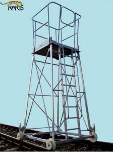 Carucior turn din aluminiu, pe sine, pentru fir aerian, tip CFA