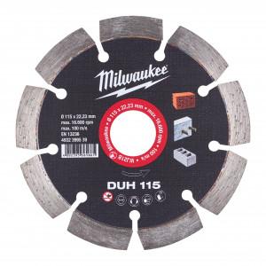 Discuri diamantate DUH Milwaukee, beton armat, pavaj, zidarie